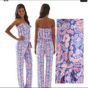 Lilly Pulitzer Tia Strapless Jumpsuit Small